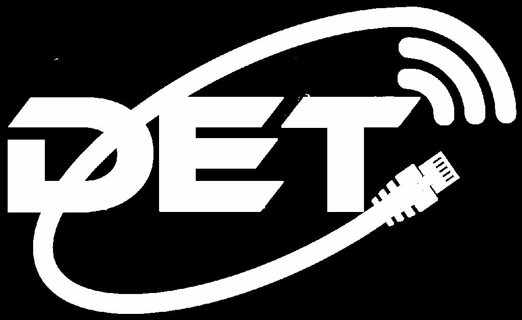 DET Logo Weiss